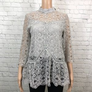 Chicwish lace top gray size S